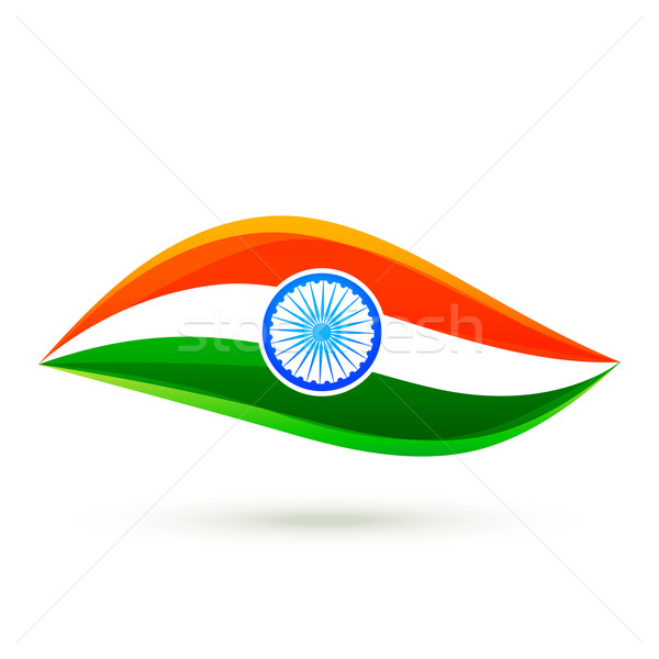 600x600 Simple Vector Indian Flag Style Design Vector Illustration