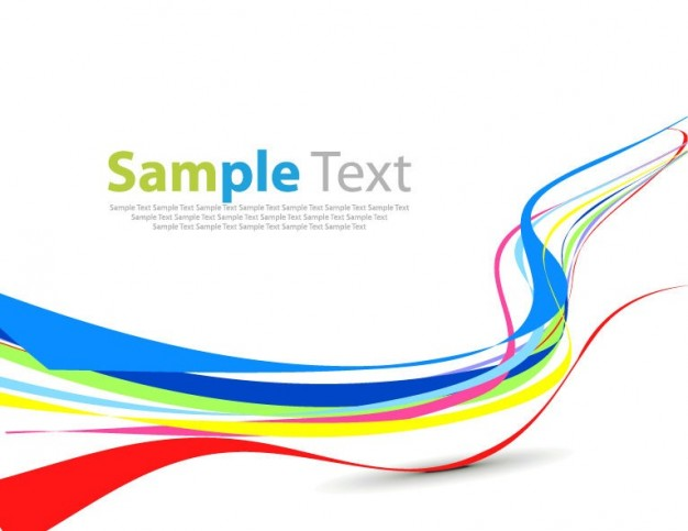 626x483 Colorful Wave Simple Abstract Design Vector