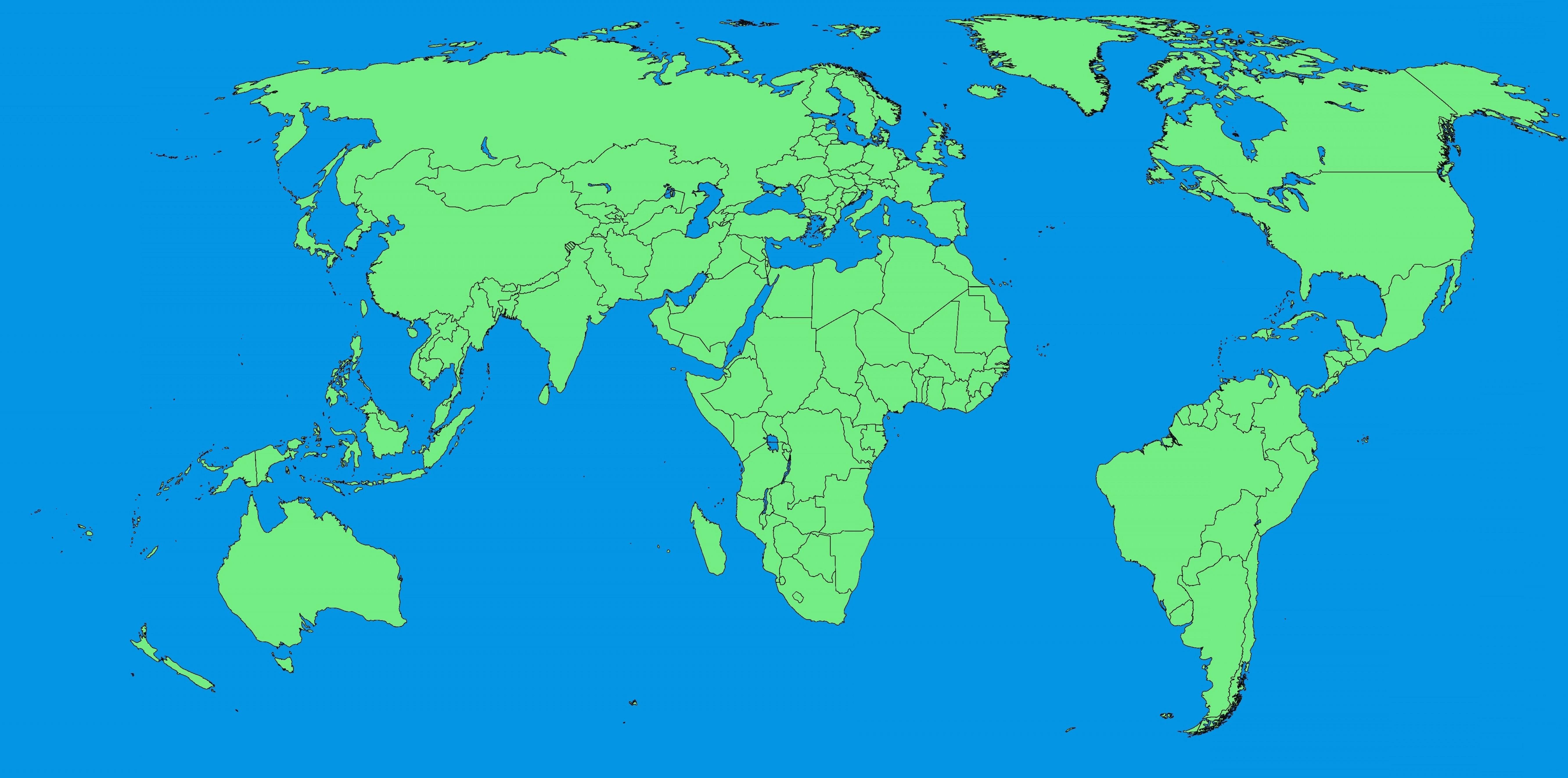 5400x2680 Simple World Map Design Copy Maps Best Simple World Map Best World
