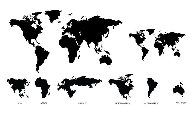 Simple World Map Vector at GetDrawings.com   Free for personal use ...