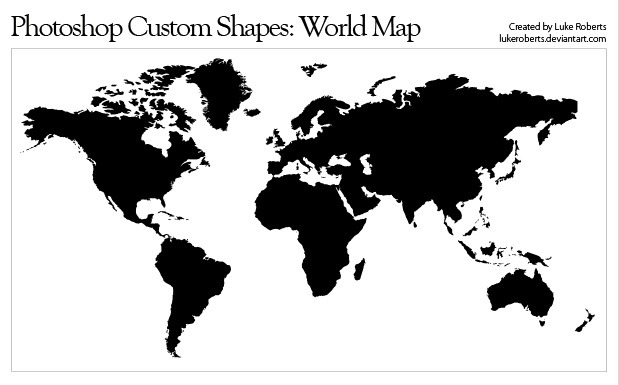 Simplified World Map Vector