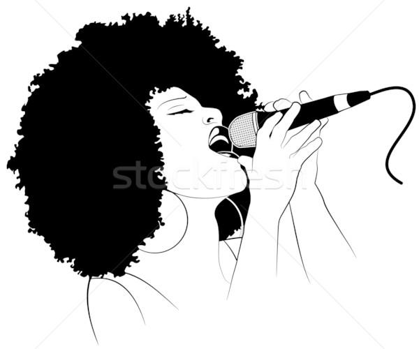 600x500 Jazz Singer Vector Illustration Isabel Da Silva Azevedo (Isaxar