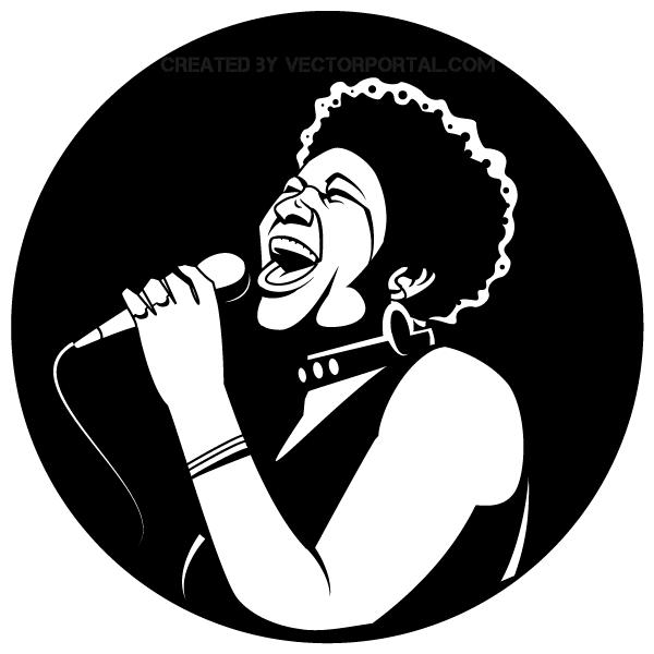 600x600 Black Female Singer Vector Image 123freevectors
