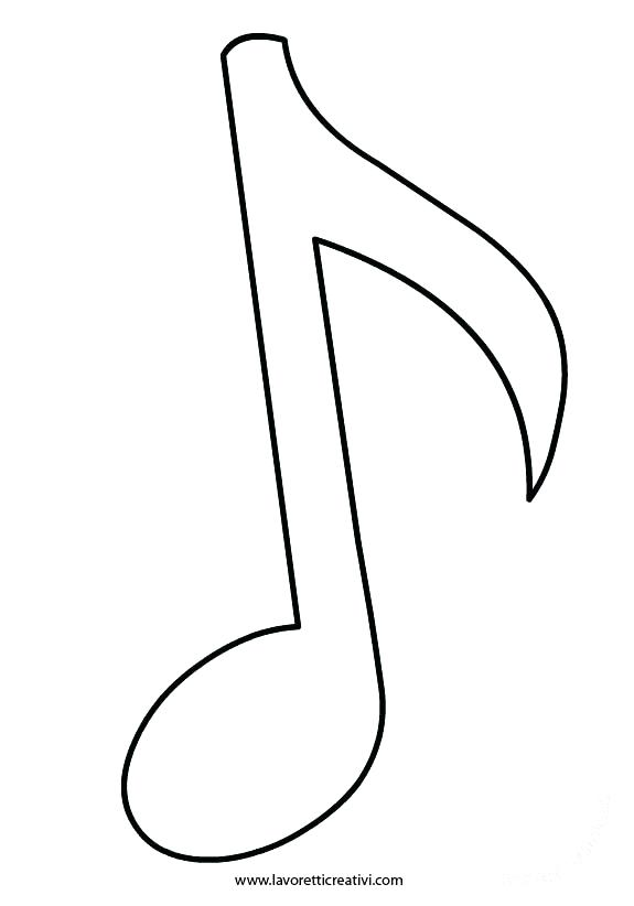 575x822 Music Note Outline Clip Art Download Music Notes Filled Outline