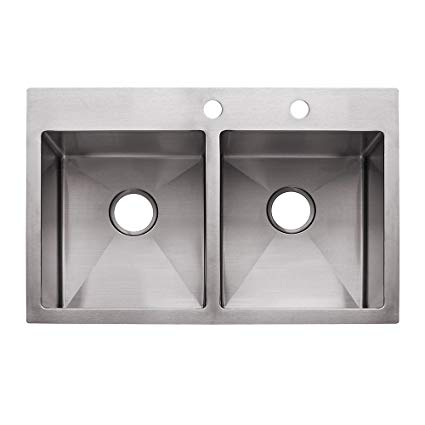 425x425 Franke Hf3322 2 Vector 33 Dual Mount Double Bowl 2 Hole Kitchen
