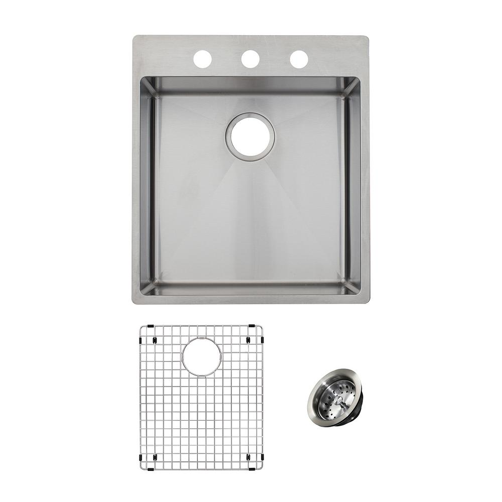 1000x1000 Franke Vector All In One Dual Mount Stainless Steel 19.5 In. 1