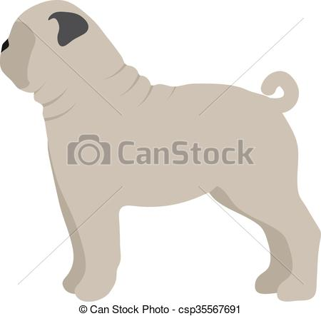 450x443 Flat Dog Pet And Sitting Cute Vector. Flat Dog Pet And Sitting