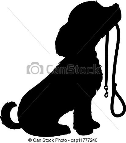 413x470 Sitting Dog Silhouette Clip Art Black, Silhouette, Sitting, Dog