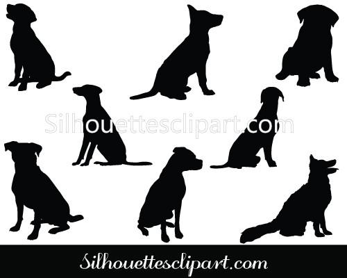 500x400 Sitting Dog Vector Graphics Download Free Silhouettes Vector