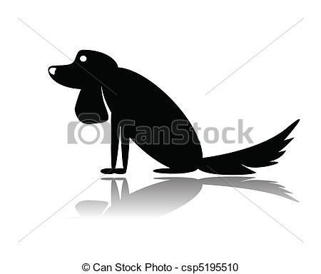 450x384 Vector Iilustration Sad Dog Sitting On White.