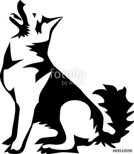 434x500 Sitting German Shepherd Dog Stock Image And Royalty Free Vector