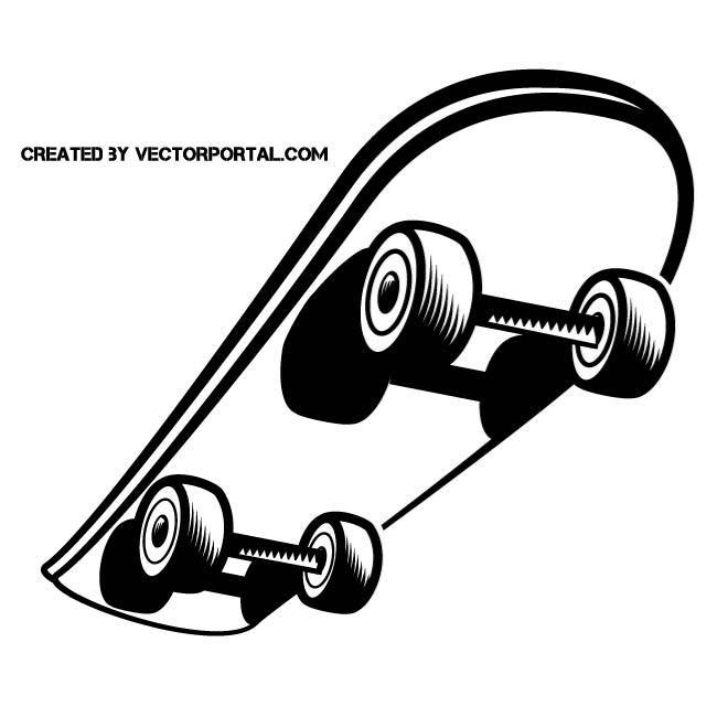660x660 Skateboard Vector Clip Art