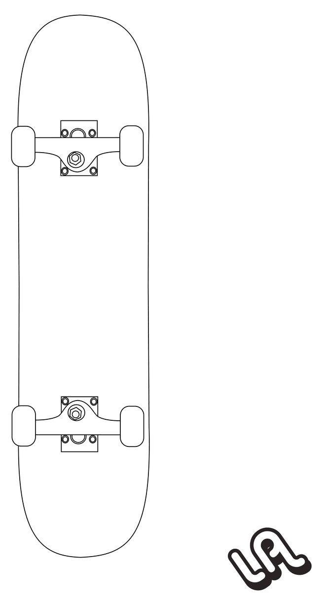 651x1225 Skateboard Vector By Luther1000
