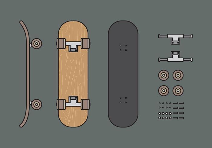 700x490 Skate Free Vector Art