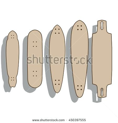 450x470 Blank Template Different Forms Of S And Skateboards Vector