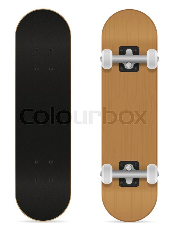 591x800 Skateboard Vector Illustration Isolated On White Background