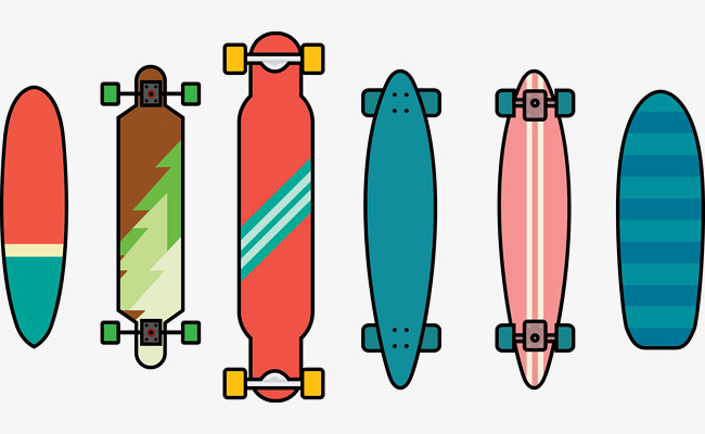650x400 Vector Skateboard, Skateboard Vector, Skateboard, Vector Png And