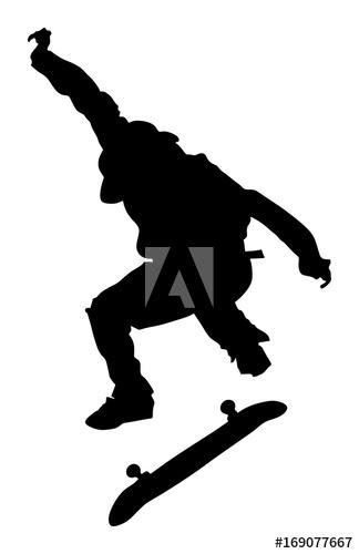 324x500 Extreme Sport Game, Skateboarder In Skate Park, Air Jump Trick