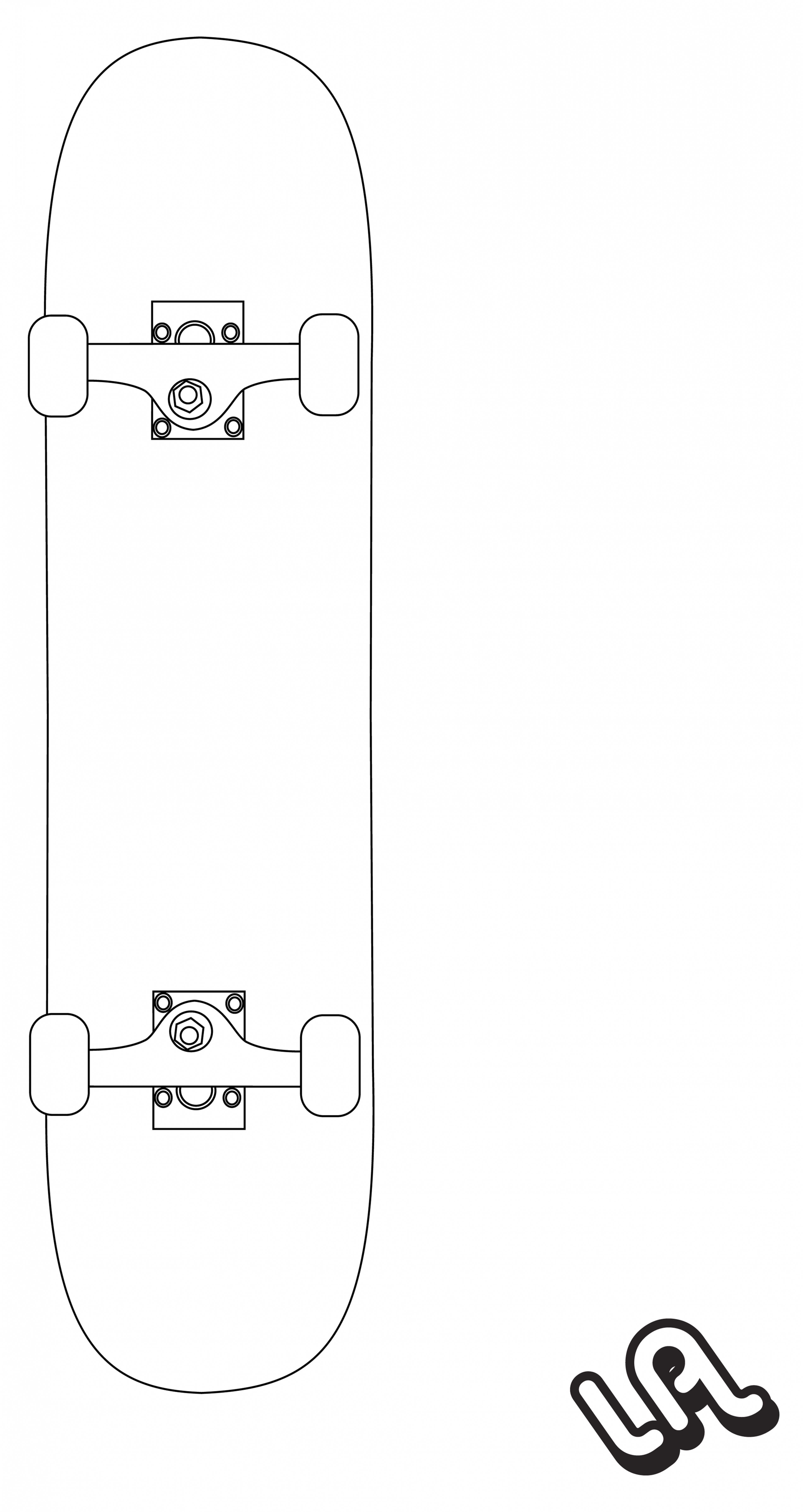 3880x7303 Download Our Sample Of 20 Skateboard Deck Template