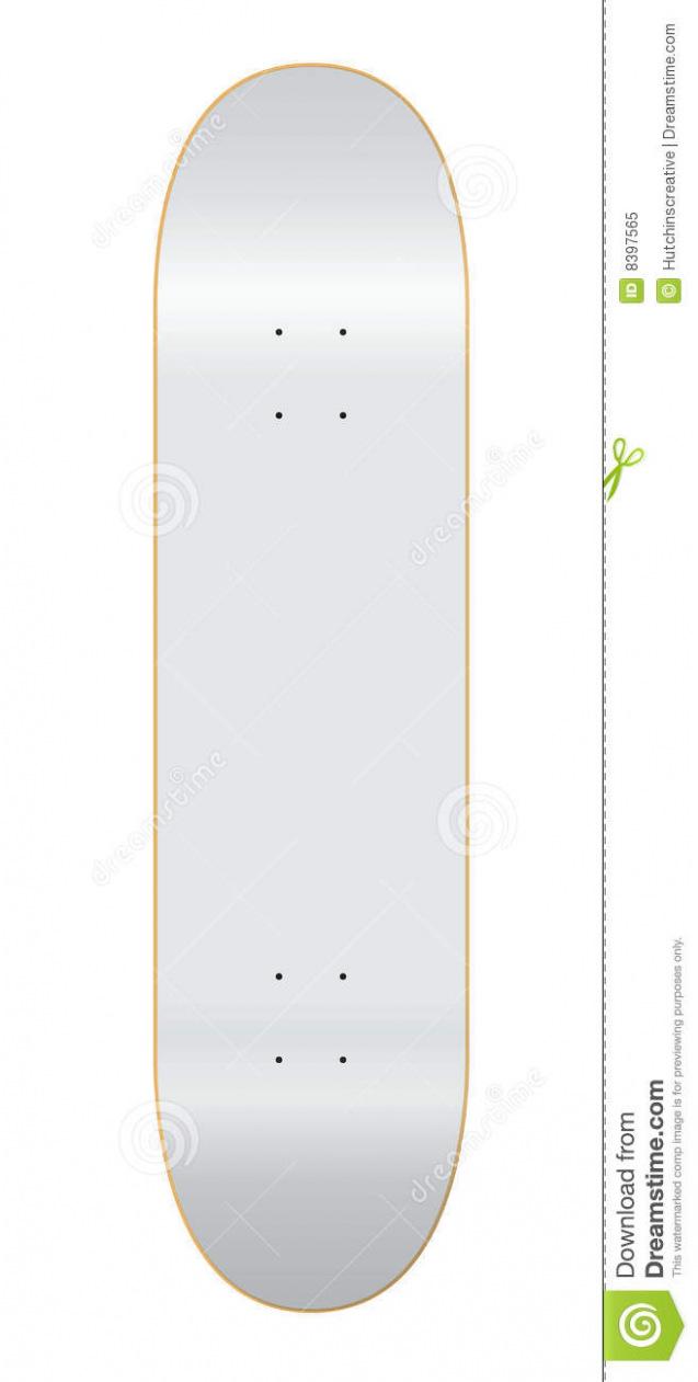 637x1261 Download Skateboard Deck Template 7 75 Stock Vector Image