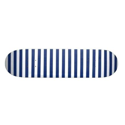 422x422 Lucky Point Blue And White Stripes Skateboard Deck Minimal Gifts