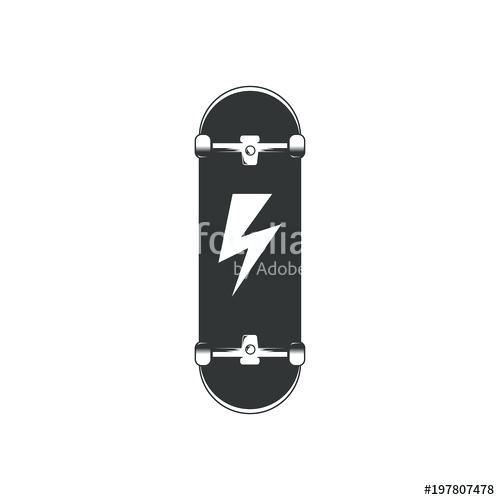 500x500 Skateboard Logo Vector Template Eps