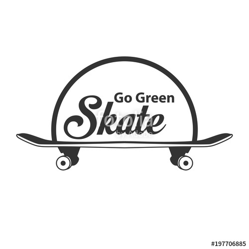 500x500 Skateboard Logo Vector Template Stock Image And Royalty Free