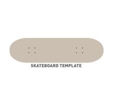 225x204 Skateboard Template Free Vector 4vector