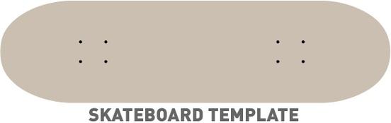 552x174 Skateboard Template Free Vector In Adobe Illustrator Ai ( .ai