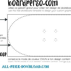300x300 Skateboard Template Free Vector In Encapsulated Postscript Eps