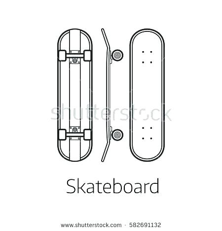 skateboard vector template at getdrawings com free for personal