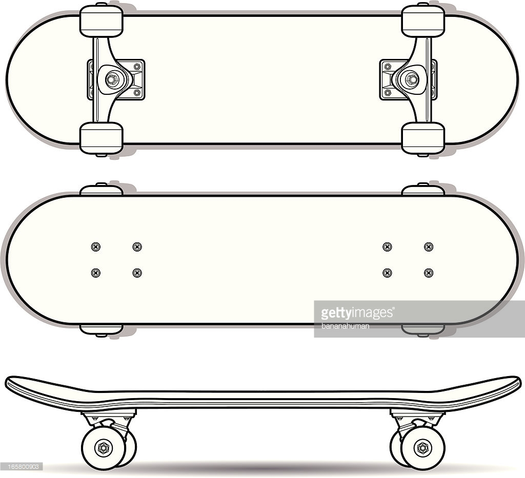 1024x933 Collection Of Skateboard Drawing Outline High Quality, Free