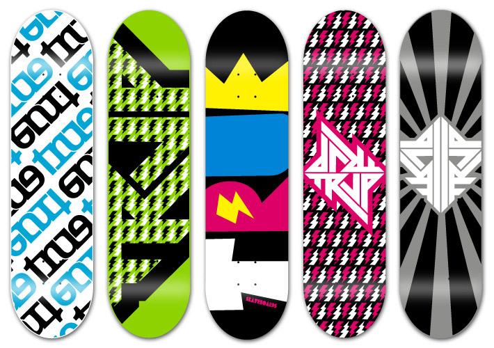 710x500 30 Cool Vector Illustrated Skateboard Decks
