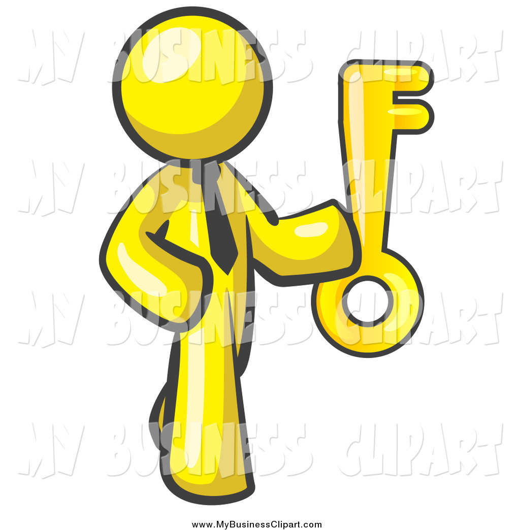 1024x1044 Vector Clip Art Of A Yellow Business Man Holding A Large Skeleton