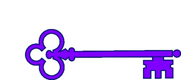 600x267 Skeleton Key Clipart Purple Junior Skeleton Key Clip Art