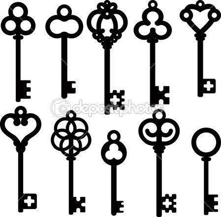 449x442 Antique Skeleton Keys Stock Illustration Free Skeleton Key