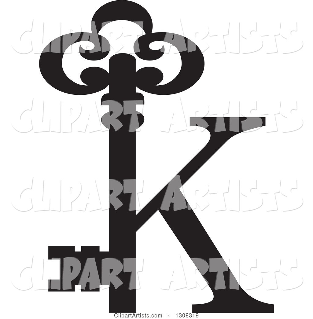 1024x1044 Black Abstract Skeleton Key Alphabet Letter K Logo Clipart By Lal