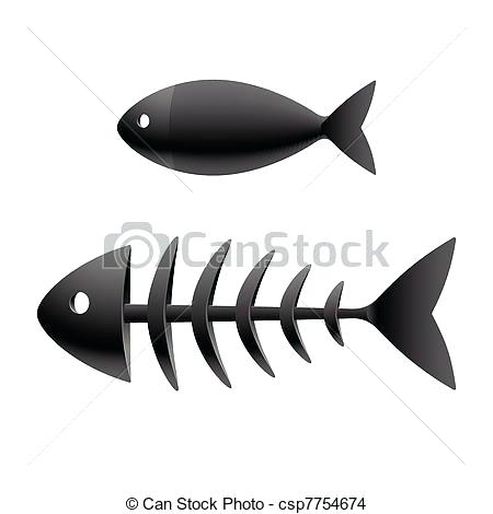 450x470 Fish Skeleton Art Fish Skeleton Fish Skeleton Vector Art