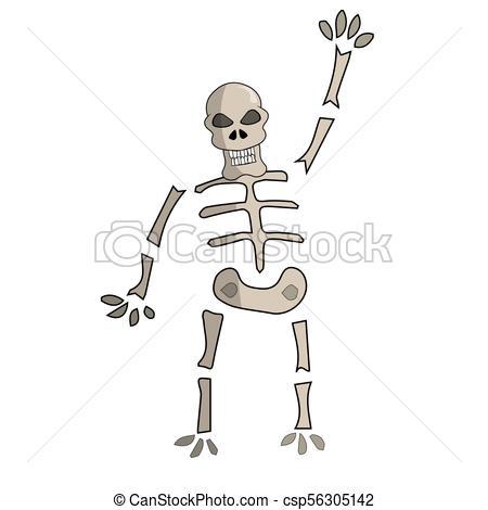 450x470 Cartoon Skeleton. Vector Illustration. Cartoon Skeleton Giving A