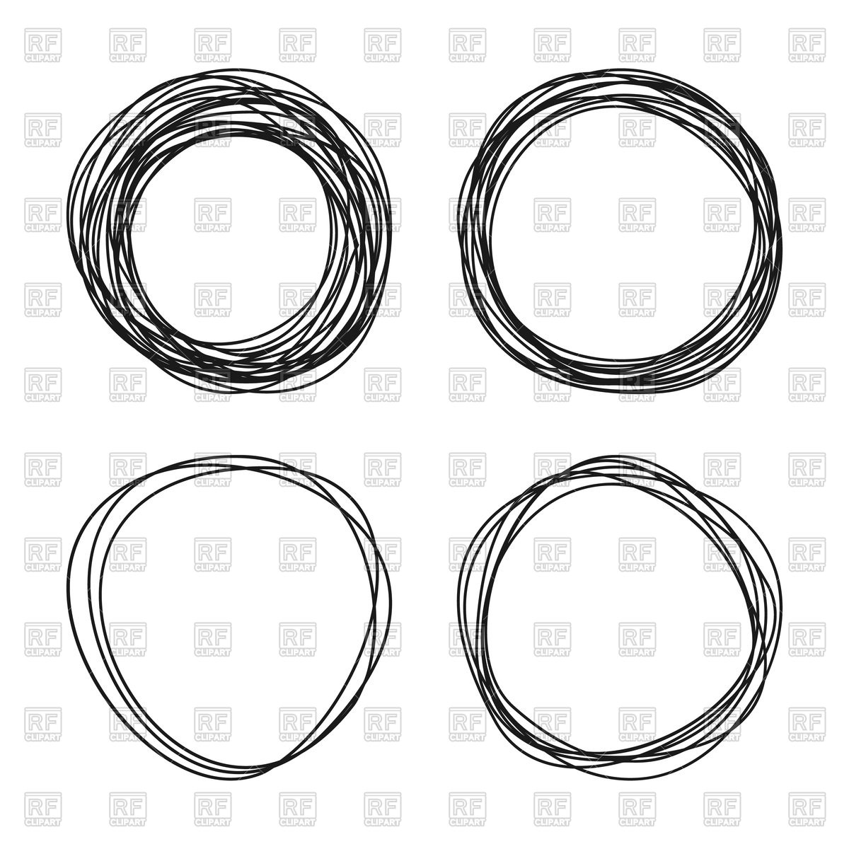 1200x1200 Circle Sketch Vector Image Vector Artwork Of Design Elements