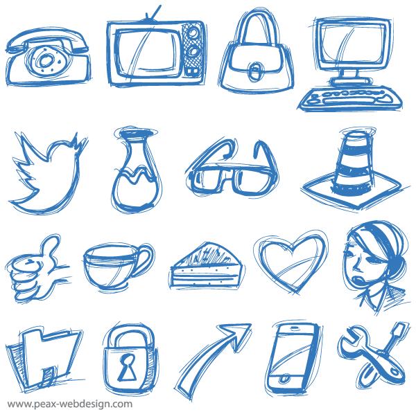 600x595 Free Vector Sketch Icons Psd Files, Vectors Amp Graphics