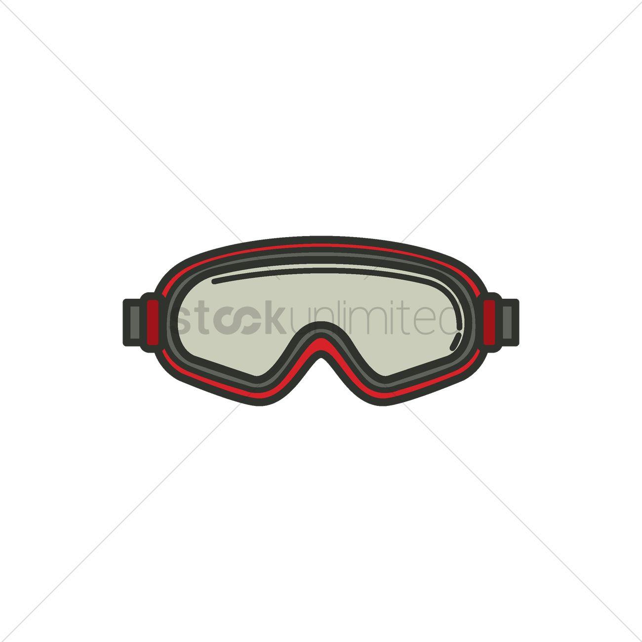 1300x1300 Ski Goggles Vector Image
