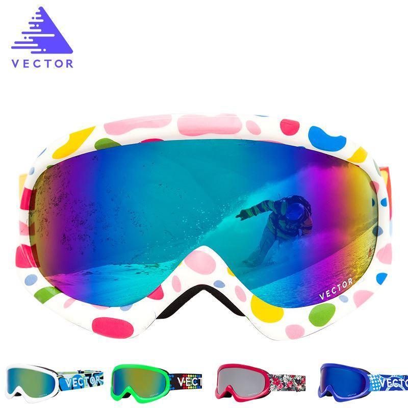 800x800 2018 Vector Children Ski Goggles Double Lens Girls Boys Skiing