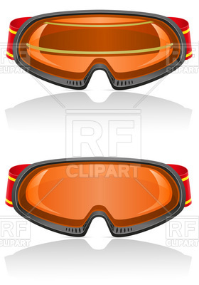 280x400 Ski Goggles With Strap Vector Image Vector Artwork Of Sport And