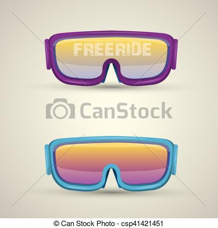 450x470 Vector Ski Goggles Icon. Snowboard Mask. Vector Ski Goggles Icon