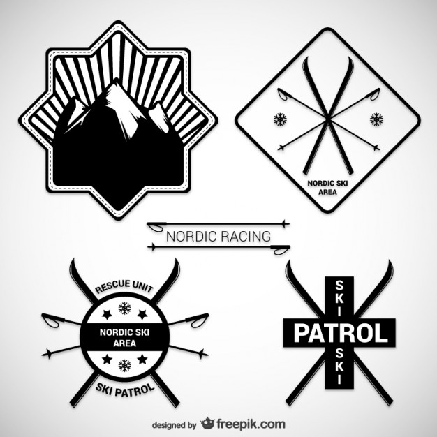 626x626 Nordic Ski Badges Vector Free Download
