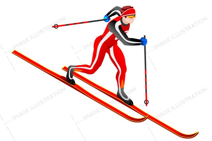 690x459 Ski Cross Country Clipart Vector
