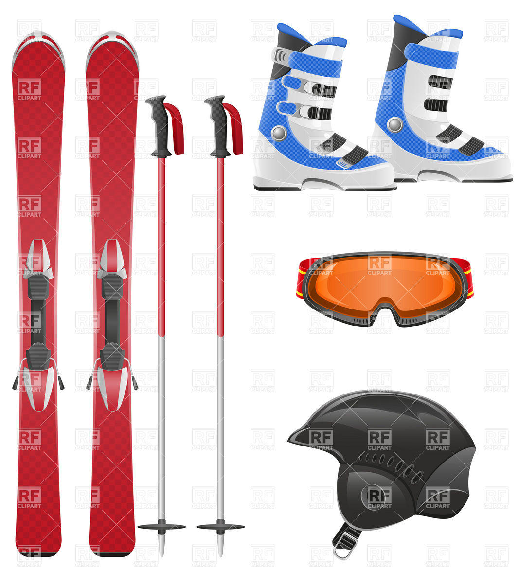 1067x1200 Ski Equipment Icon Set Vector Image Vector Artwork Of Sport And