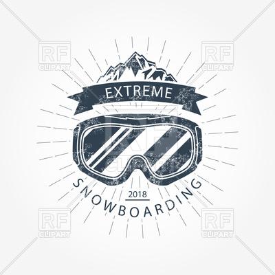 400x400 Ski Goggles And Mountains