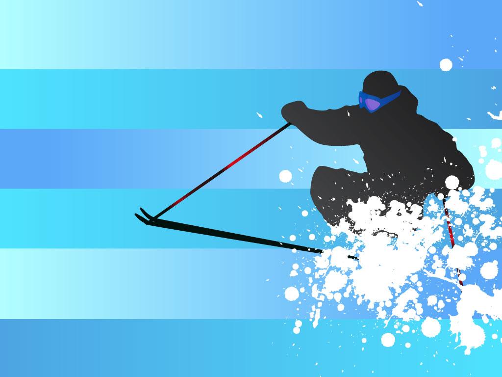 1024x768 Skier Vector